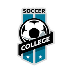soccer college logo vector image vector image