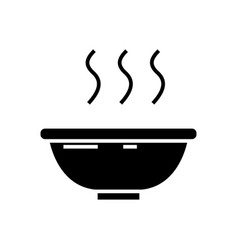 soup bowl icon black sign on vector image