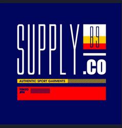 Supply co authentic sport garment 89 tokyo jpn vector