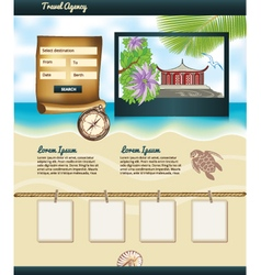 Travel agency template vector
