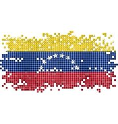 Venezuelan grunge tile flag vector image