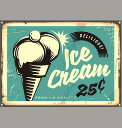 vintage ice cream vector image