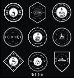Vintage White Coffee Badges vector image
