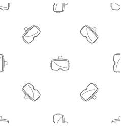 vr glasses headset pattern seamless vector image