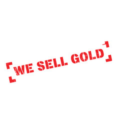 We sell gold rubber stamp vector