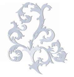 Acanthus leaf ornament pattern vector image