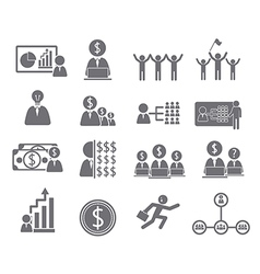 Business icons management and human vector image vector image