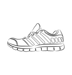hand drawn fashion sneakers vector image vector image