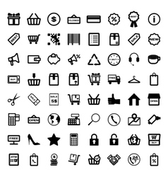 Mega collection of outline shopping icons Online vector image