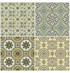 Seamless Vintage Background Collection vector image