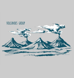 smoke before the eruption vector image vector image