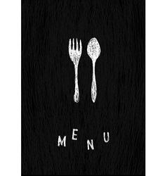creative menu template vector image