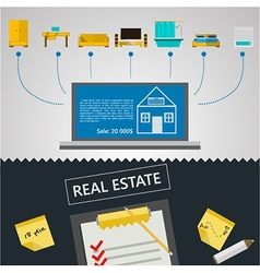 infographic for sale of real estate vector image vector image