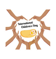 international children s day concept vector image