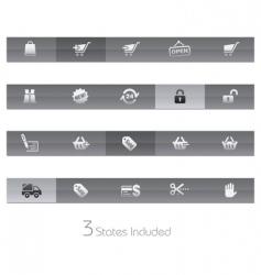 shopping bars vector image vector image