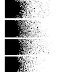 Spray paint banner detail in black over white vector