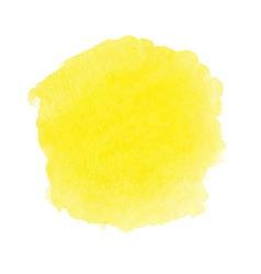 Yellow watercolor spot vector