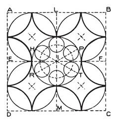 arc exercise leading ellipticals vintage engraving vector image vector image