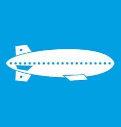 dirigible balloon icon white vector image