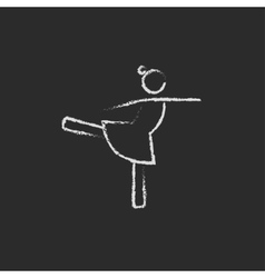 Female dancer icon drawn in chalk vector image