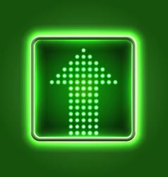 Green arrow neon icon vector image vector image