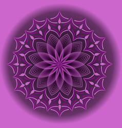 Light purple mandala in optical art style for vector