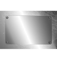 Metal frame with screws vector image
