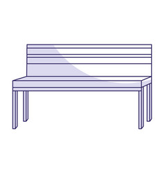 park bench isolated icon vector image