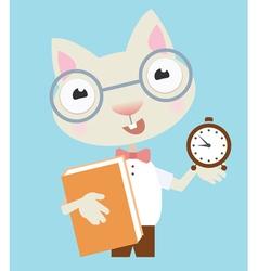 Scientist cat vector image