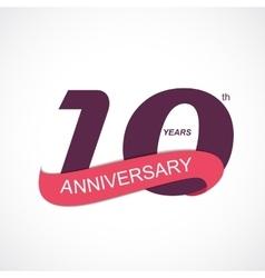 Template Logo 10th Anniversary vector image