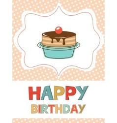 Birthday card with dessert vector image