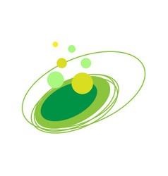 circular abstract logo element vector image