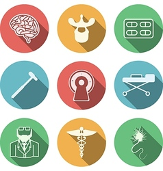 Colored icons for neurology vector image