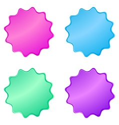 0220multicolored glossy stickers in the shape of a vector image