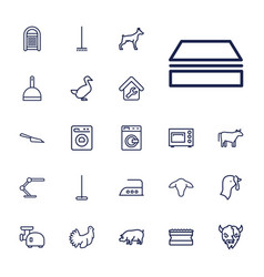 22 domestic icons vector
