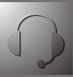 A large pair music headphones vector