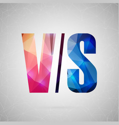 Abstract creative concept icon of vs for vector