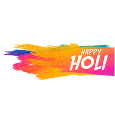 Abstract happy holi festival colorful banner vector