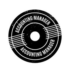 Accounting Manager rubber stamp vector