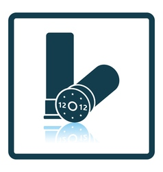 Ammo from hunting gun icon vector image