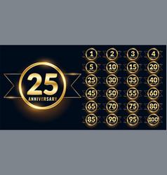 Anniversary label celebration emblem big set vector