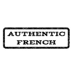 Authentic french watermark stamp vector