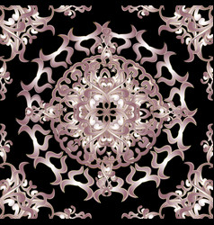 baroque ornamental floral seamless mandala vector image