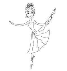 beautiful ballerina graphic doodle vector image