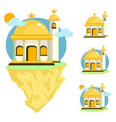 Beautiful mosque set vector