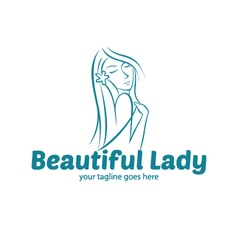 Beauty Lady Logo vector image