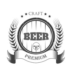 Beer pub craft brewery isolated icon barrel and vector