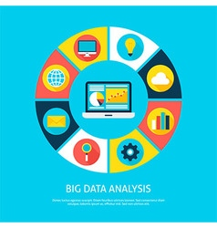 Big Data Analysis Flat Infographic Concept vector image