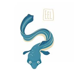 Blue eel vector image