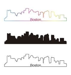 boston skyline vector images over 100 rh vectorstock com boston skyline outline vector boston skyline outline vector